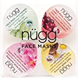 nügg Face Mask Palette for Clear & Smooth Skin - Soothe, Exfoliate, Hydrate, and Cleanse; Pack of 4 Single-Serve Mask Pods (4 x 0.33fl.oz.)
