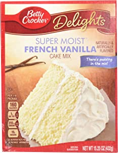 Betty Crocker Super Moist French Vanilla Cake Mix - 15.25 oz