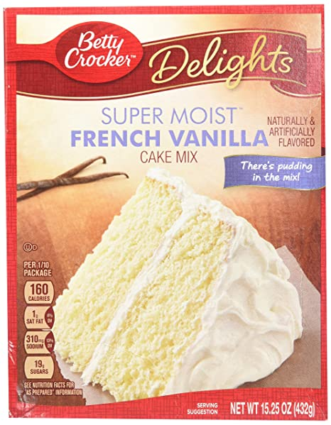Betty Crocker Super Moist French Vanilla Cake Mix 432g 15 Oz