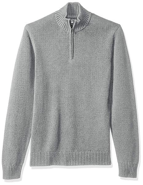 Goodthreads Soft Cotton Quarter Zip Sweater - Sudadera Hombre: Amazon.es: Ropa y accesorios