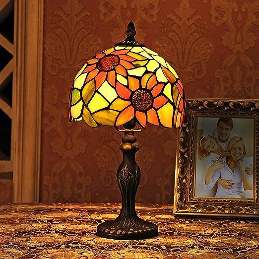 Lámpara de mesa Tiffany de 8 pulgadas Lámpara de vidrio manchado ...