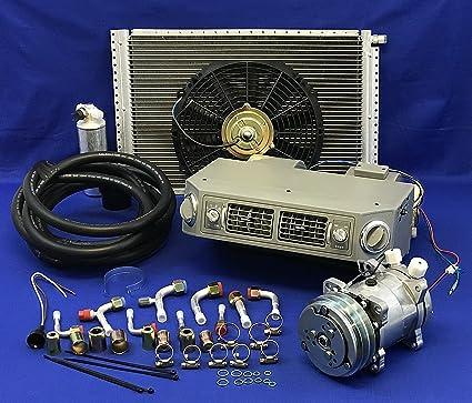 Universal Underdash Mount AC Air Conditioning Evaporator Heat Cool Kit Vents