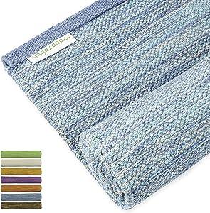 "Yogasana Yoga Mat | Thick Eco Friendly Cotton, Home Workout Mat Floor Exercise, Meditation, Superior Grip Non Slip, Hot Yoga 72"" 15 Year Guarantee"