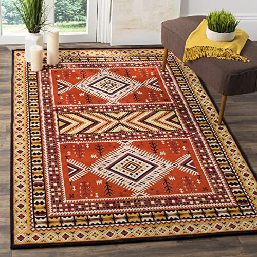 Safavieh Classic Vintage Collection CLV511D Orange and Gold Area Rug, 3 x 5