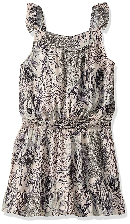 Maaji Girls Printed with Elastic Waist and Ruffle Neckline Tank Dress