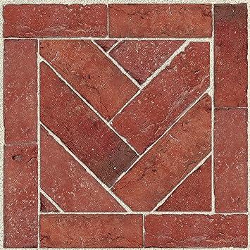 Decorative and Removable Tiles Yellow Diamond Con-Tact Brand FloorAdorn Vinyl Floor Appliques Self-Adhesive 12X12 6