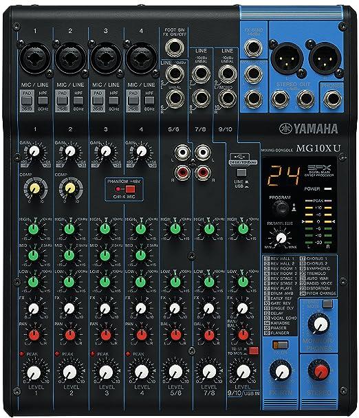 5 opinioni per Yamaha MG10XU mixer audio professionale con effetti per studio, live, karaoke,