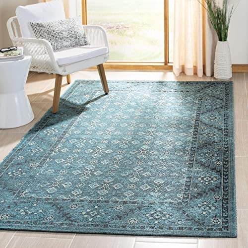 Safavieh Palazzo Collection PAL130-1621 Turquoise and Cream Area Rug 4 x 6