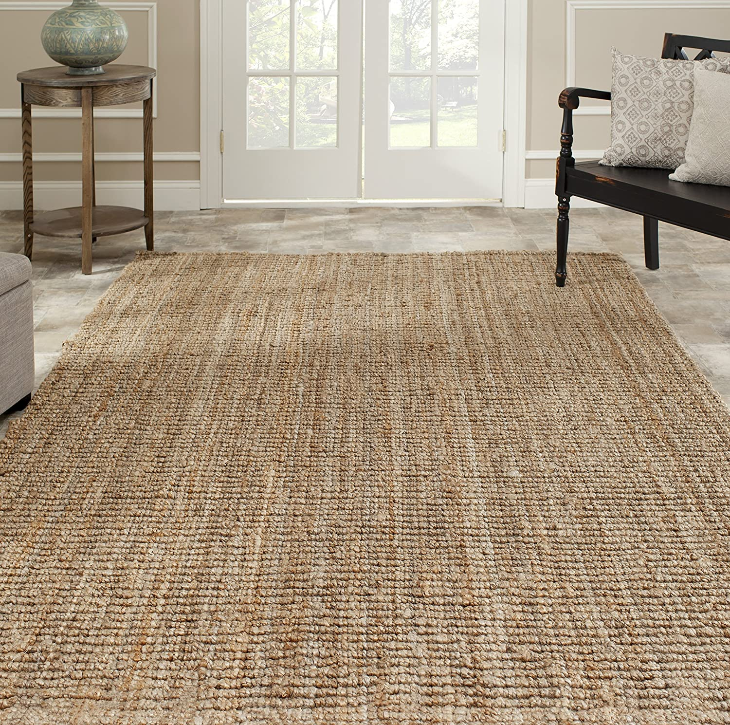 Amazon.com: Safavieh Natural Fiber Collection NF447A Hand Woven Natural Jute  Square Area Rug (6u0027 Square): Kitchen U0026 Dining