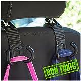 Car Back Seat Headrest Hanger Holder Hooks for Purse Grocery Bag Hat Cloth Coat Universal Vehicle Trunk Storage…