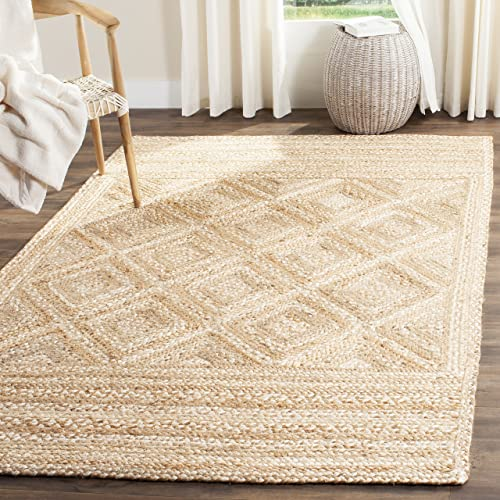 Safavieh Natural Fiber Collection NF925A Hand Woven Jute Area Rug 6 x 9