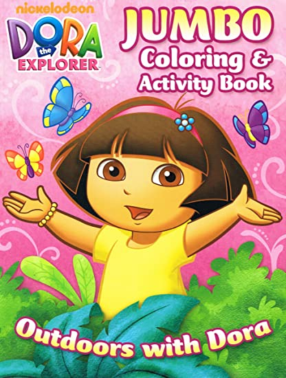 - Amazon.com: Dora The Explorer Jumbo Coloring And Activity Book
