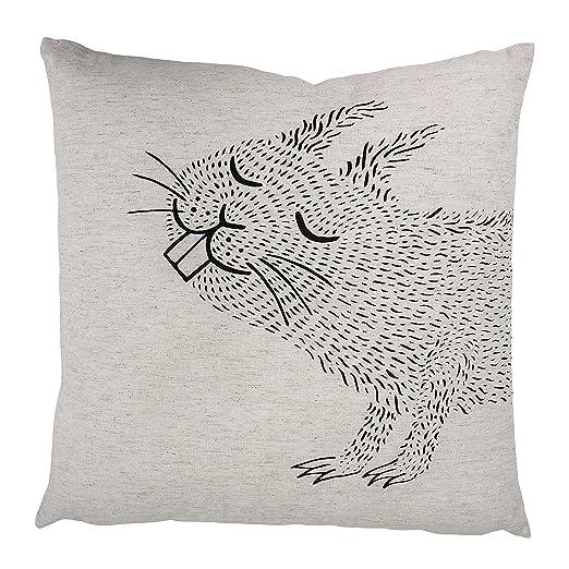 Amazon.com: BLOOMINGVILLE almohada de algodón con ardilla ...