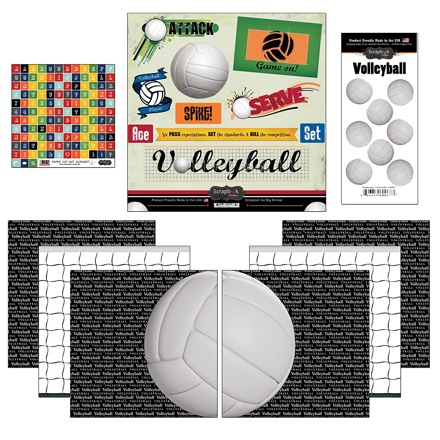 Volleyball scrapbook ideas