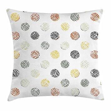 Amazon Com Ambesonne Polka Dots Throw Pillow Cushion Cover