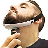 Beard Shaping Tool - FlexShaper Beard Neckline Guide - Hands-Free & Flexible - The Ultimate Neckline Beard Shaping Template (Patent Pending) (White) - Works w/ Beard Trimmer & Hair Clippers