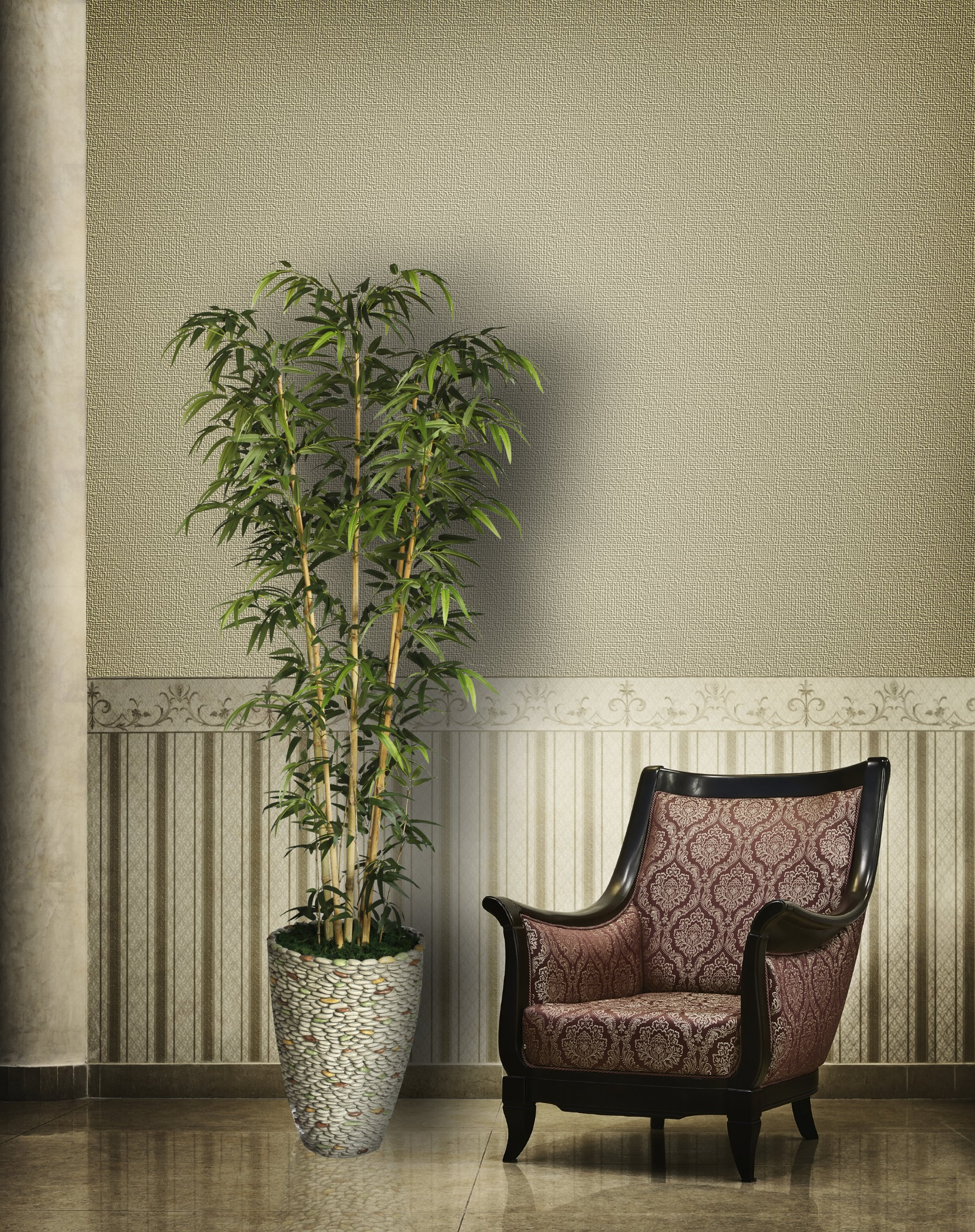 Laura Ashley VHX116209 86-Inch Natural Bamboo Tree in 16-Inch Fiber Stone Planter by Laura Ashley (Image #4)