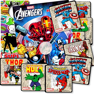 Avengers Coloring Book Set with Avengers Stickers and Superhero Door Hanger (Avengers Classic): Office Products