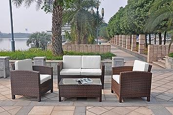 Balkonmöbel lounge-sofa  Amazon.de: XINRO 13tlg. Deluxe Lounge Möbel Set Gruppe Garnitur ...