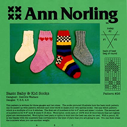 Amazon Ann Norling Pattern 26 Baby Kid Socks Arts Crafts