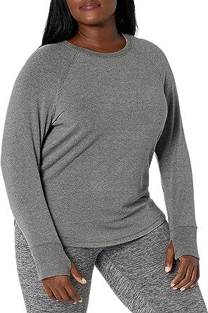 Amazon Brand - Core 10 Women's Cloud Soft Yoga Fleece Long Sleeve Sweatshirt