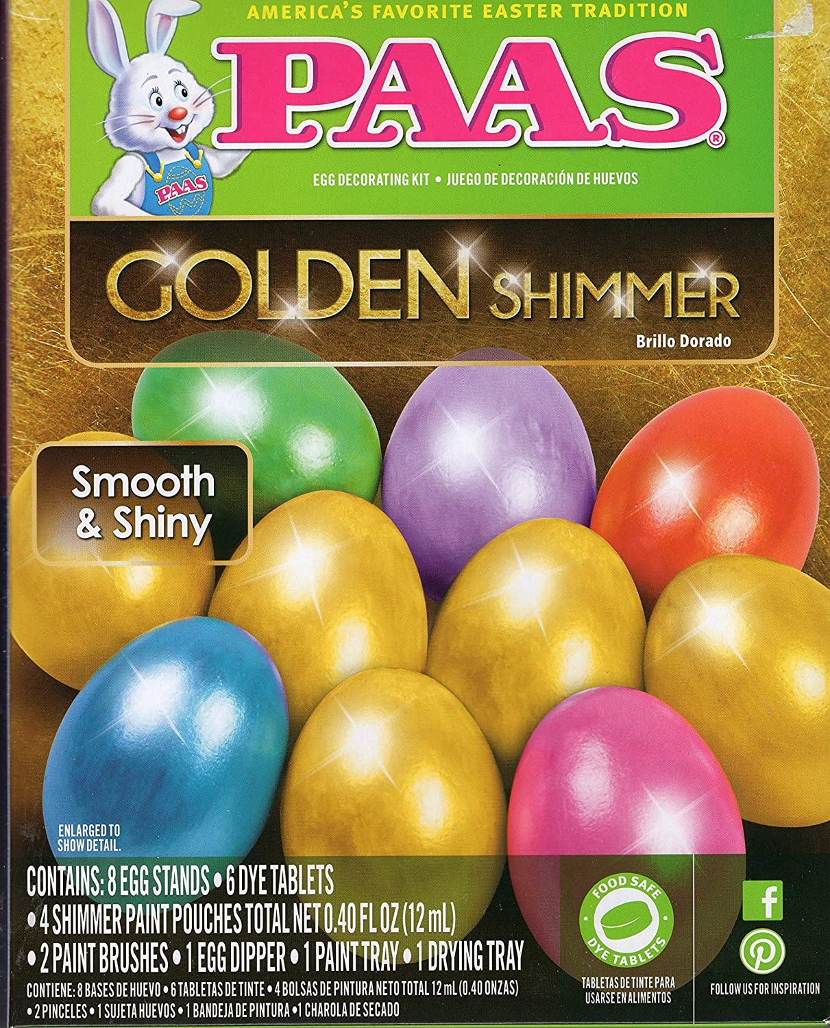 Amazon.com : Paas Golden Shimmer Egg Decorating Kit ...