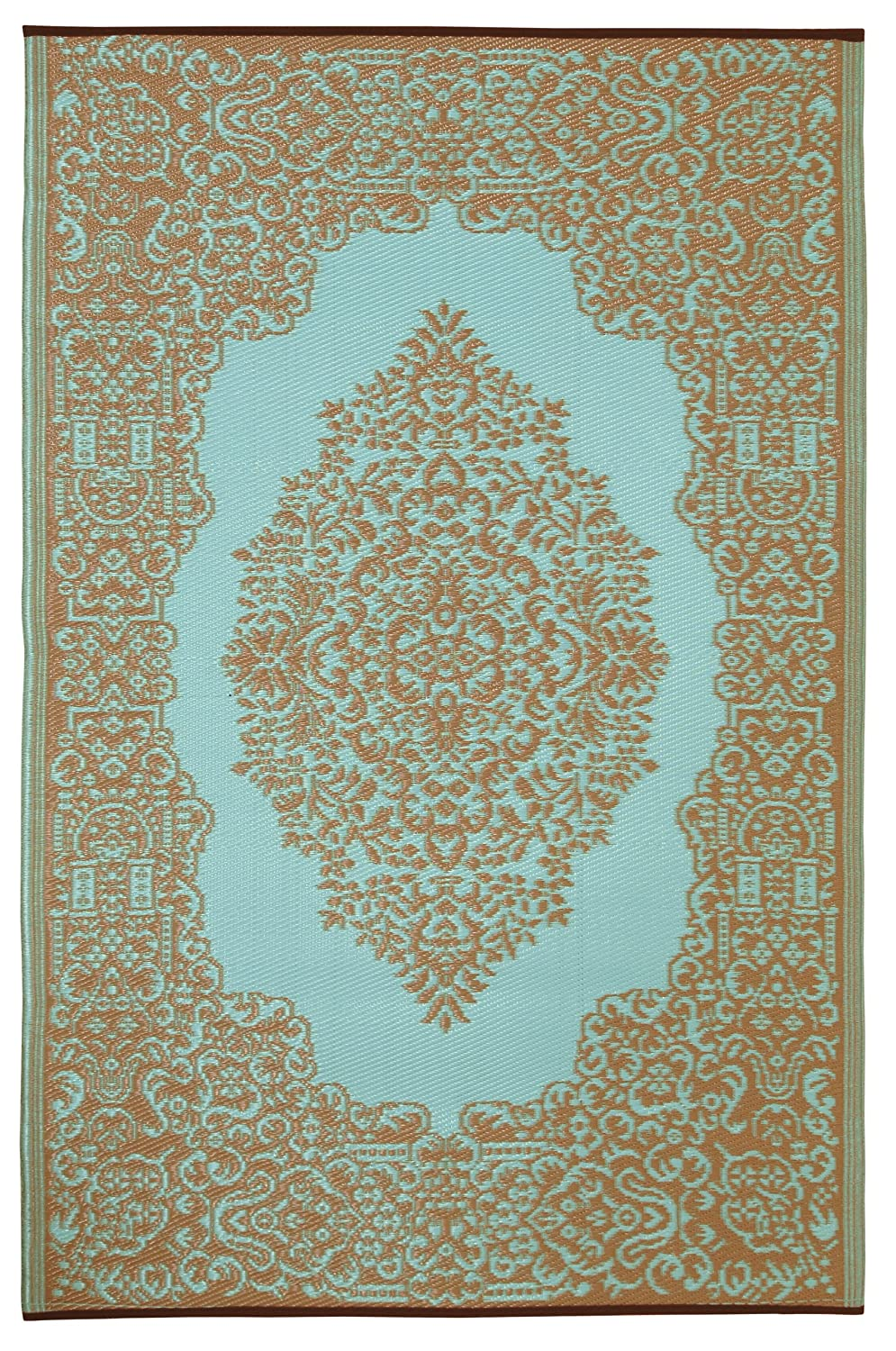 Fab Habitat Istanbul-Fair Aqua and Warm Taupe (5-Feetx8-Feet) Rug 022099179504
