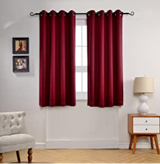 Curtains Ideas burgandy curtains : Amazon.com: Nicetown Room Darkening Blackout Curtains - (Burgundy ...