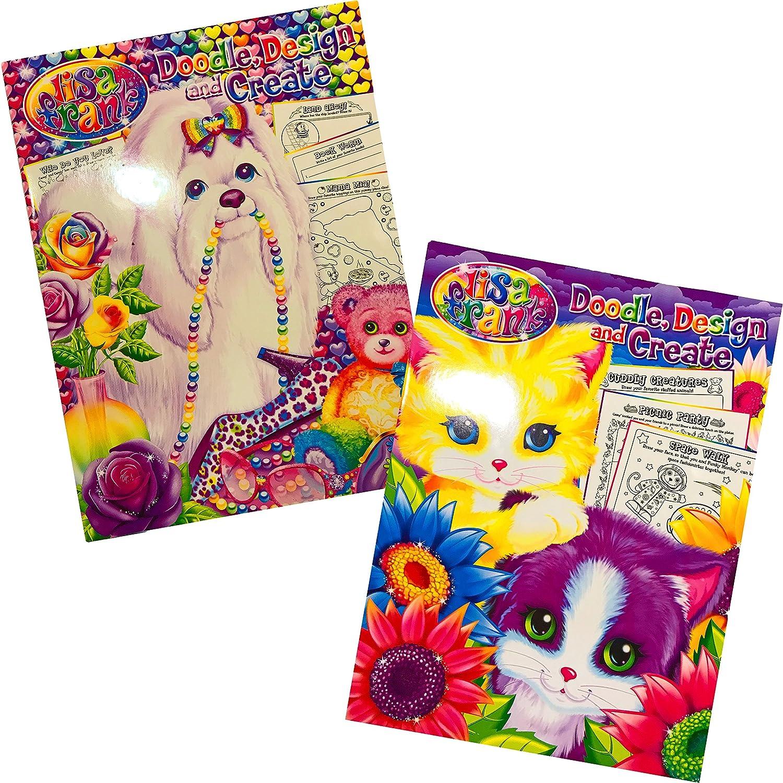 Set of 2 Design /& Create Children/'s Activity Books Design /& Create Childrens Activity Books Lisa Frank Doodle Set of 2 Kappa Books