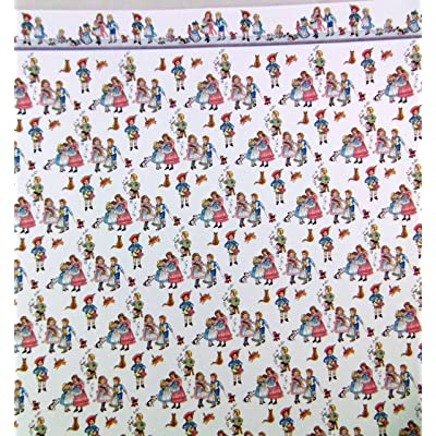 Melody Jane Dolls House Miniature Print 1:12 Scale Wallpaper Childrens Nursery Rhyme White: Toys & Games