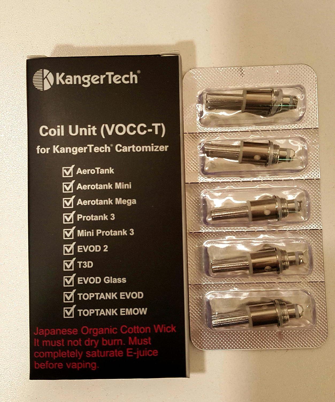 Kangertech Cartomizer 15 Ohm Coils Aerotank Protank Evod And Vapor Kanger Turbo Toptank Emow Pack Of 5 Health Personal Care