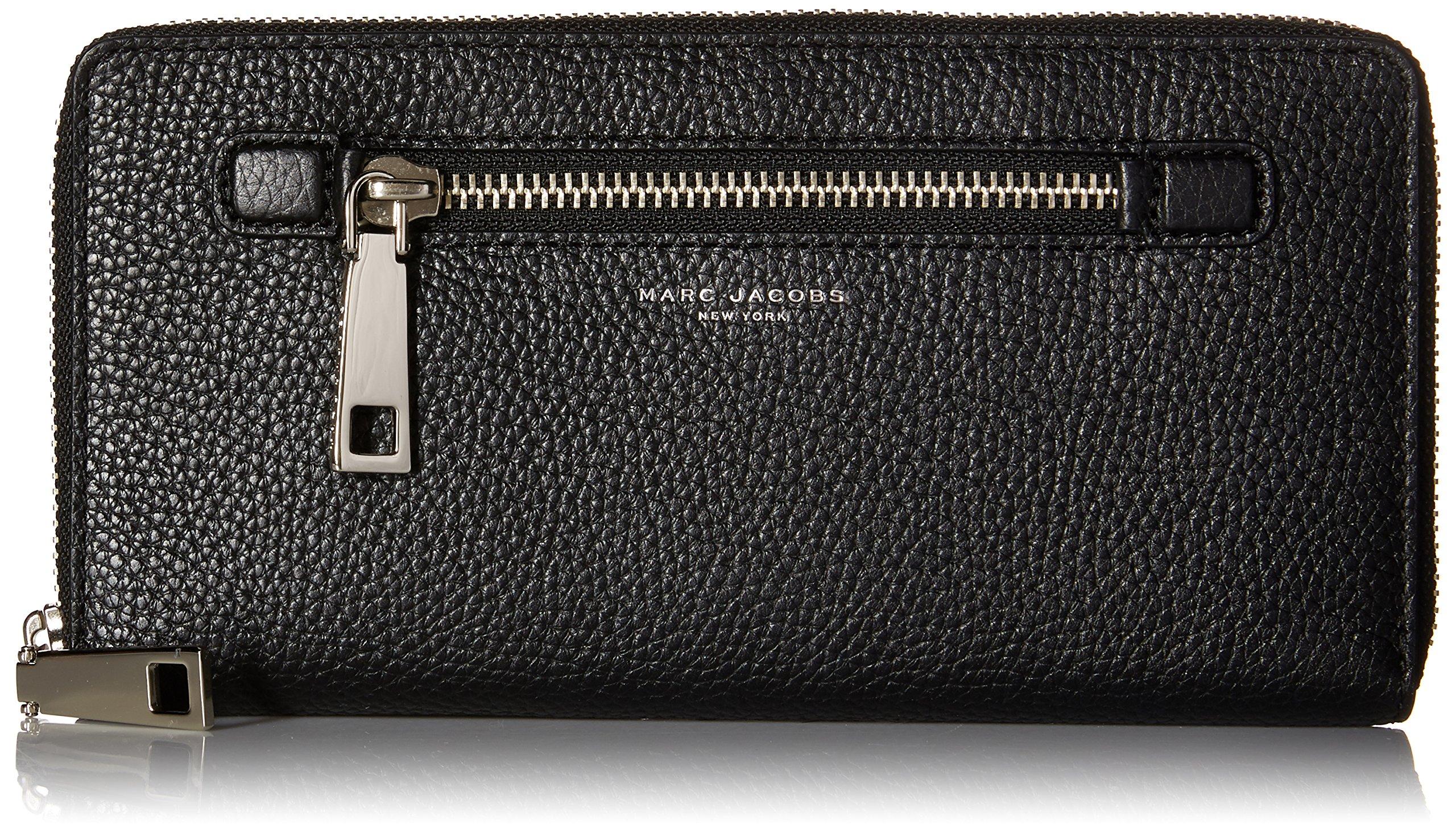 Marc Jacobs Gotham City Slgs Travel Wallet, Black, One Size