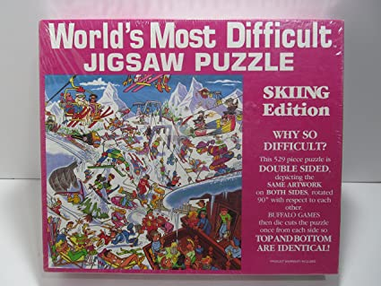 world s most difficult jigsaw puzzle skiing edition jigsaw puzzles