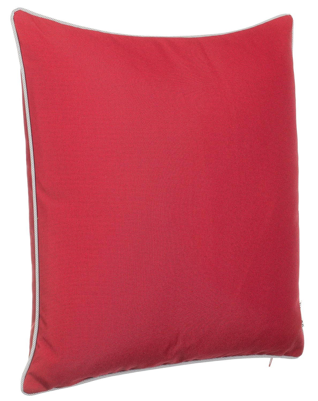 Rot Avec fermeture /Éclair/ 2er-Vorteilspack /Fil teint uni R/ésiste /à la salet/é et /à leau /Taille:45 x 45 cm Tissu Coussin d/écoratif de jardin avec passepoil/