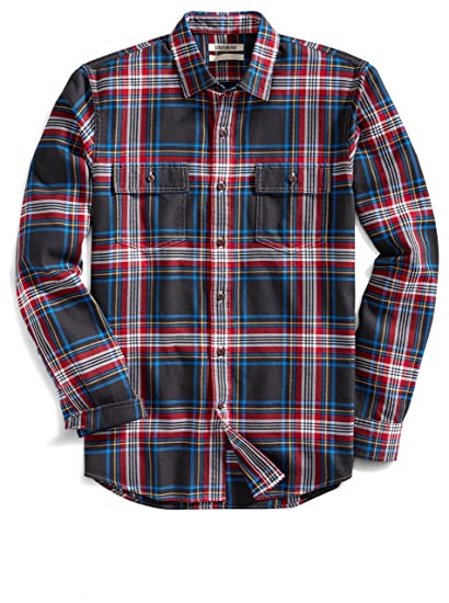 88ff120f954 Goodthreads Men s Slim-Fit Long-Sleeve Plaid Twill Shirt