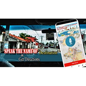 Car GPS Voice Guide: Speed-o-Meter, Street View, Compass Voice Turn-by-Turn Directions & Traffic Warning, Driving Alarm, Lifetime Map Update: Amazon.es: ...