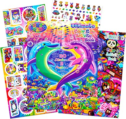 Amazon.com: Lisa Frank Stickers And Coloring Book Super Set (Bundle  Includes 2 Books - Over 30 Stickers, 2 Posters And 100 Pages Of Coloring  Fun Featuring Lisa Frank): Toys & Games