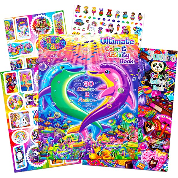 - Amazon.com: Lisa Frank Stickers And Coloring Book Super Set (Bundle  Includes 2 Books - Over 30 Stickers, 2 Posters And 100 Pages Of Coloring  Fun Featuring Lisa Frank): Toys & Games