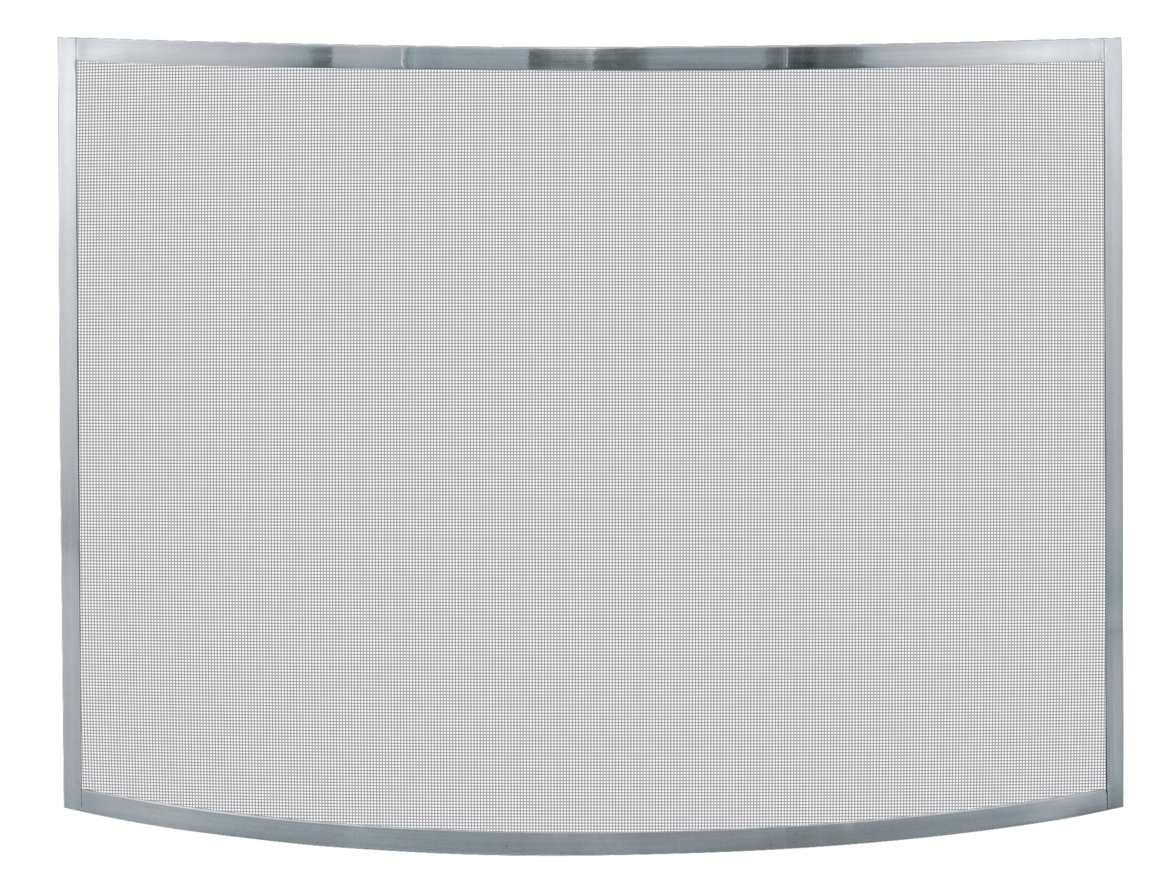 Uniflame, S-1613, Single Panel Curved Pewter Finish Screen by Uniflame