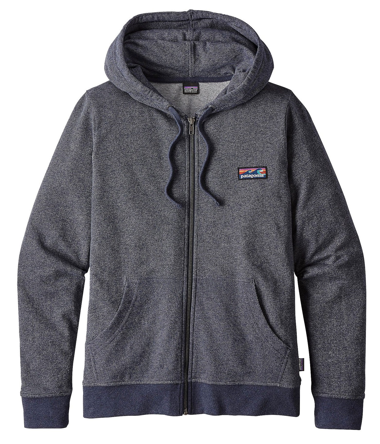 Patagonia Women's Board Short Label Lightweight Full Zip Hoodie (S, Smolder Blue)