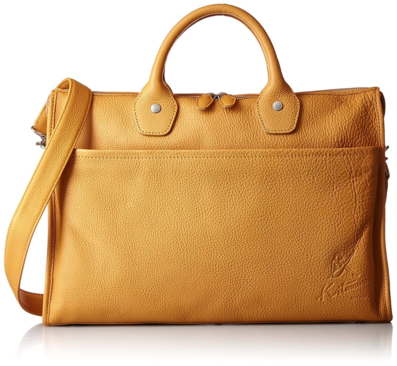 [キタムラ] ビジネスバッグ 2way Y-0682 B01H35YNAWキャメル/オレンジステッチ [茶色] 61421