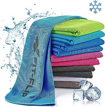 Toalla de enfriamiento Toalla de Microfibra para Deporte o Toalla fría –  Cooling Towel para Fitness, Deporte, Viajes, Yoga: Amazon.es: Deportes y  aire libre