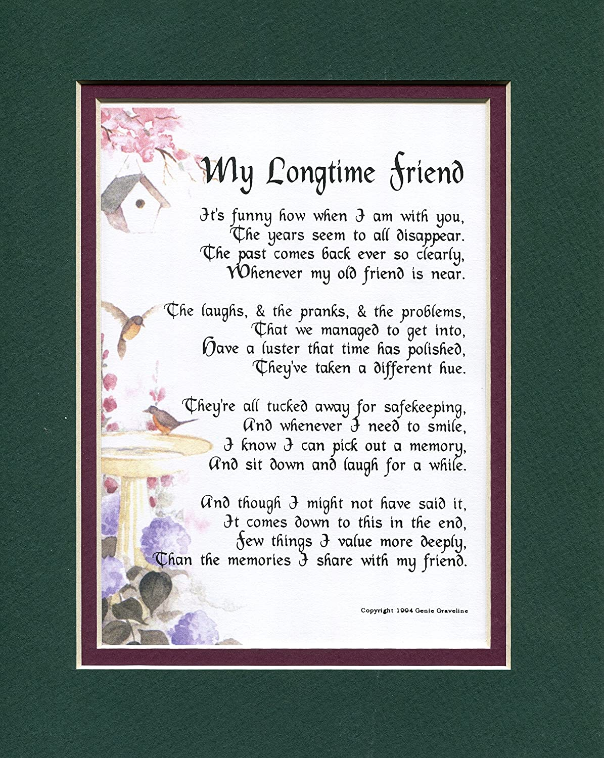 Amazon Com Friendship Poem Best Friend Verse 30th 40th 50th Friends Birthday Present Best Friend Poem Longtime Friend Childhood Friend Home Kitchen Friends and family are important to our wellbeing. friendship poem best friend verse 30th 40th 50th friends birthday present best friend poem longtime friend childhood friend