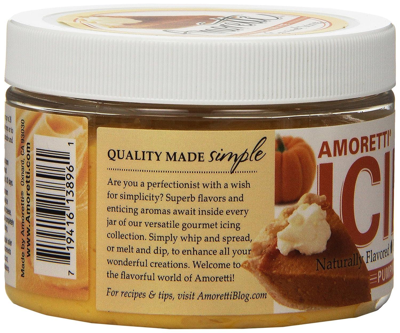 Amoretti Gourmet glaseado, pastel de calabaza,: Amazon.es ...