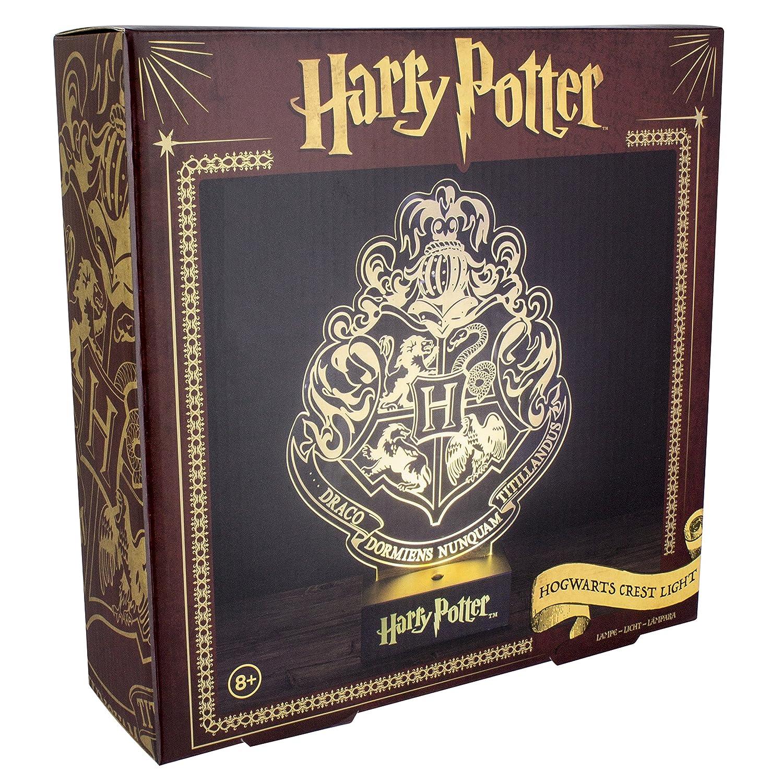 Harry Potter Paladone PP3215HP Laser Etched Acrylic Hogwarts Crest Light, Plastic