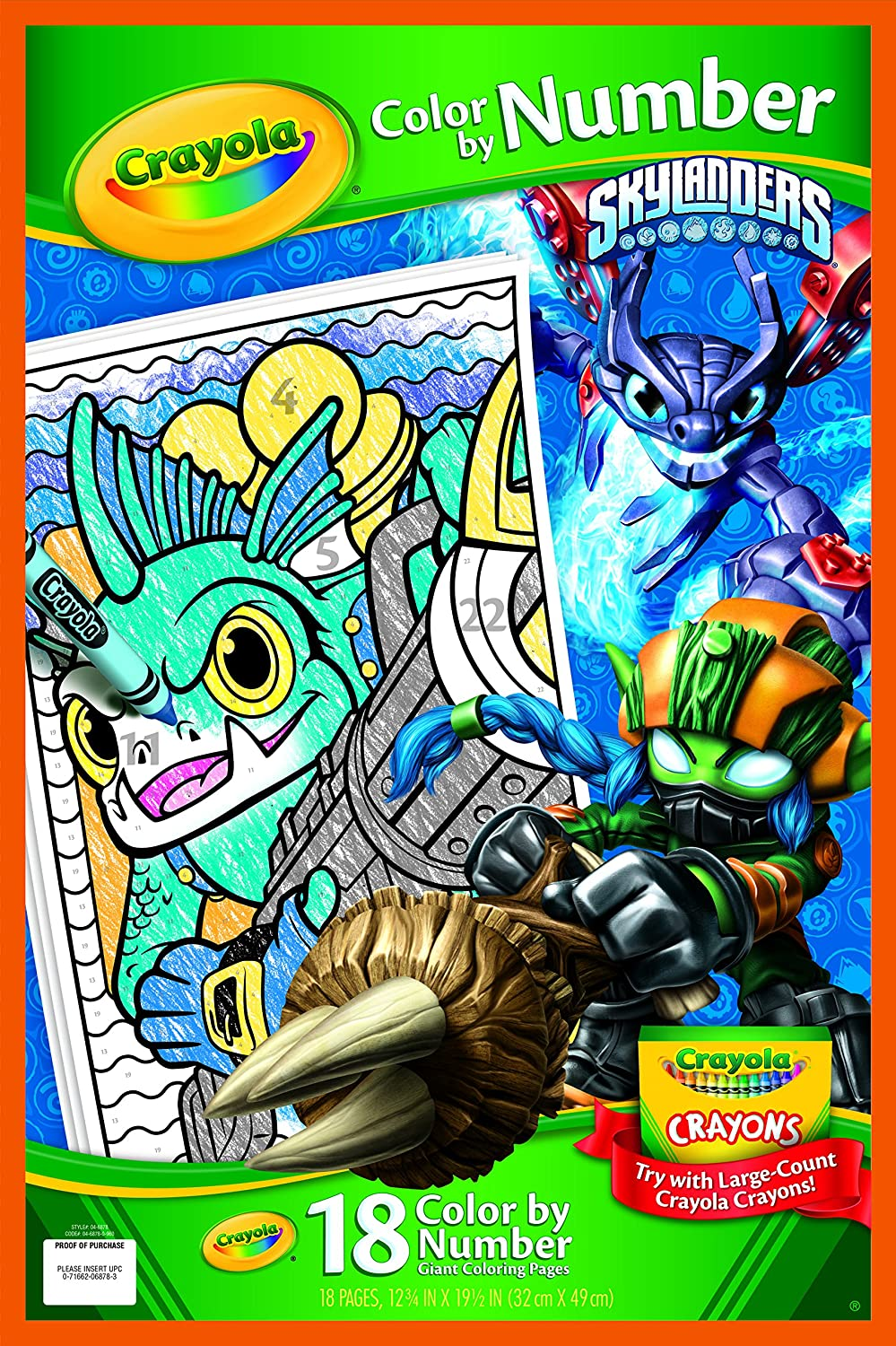 Crayola Skylanders Giant Coloring Pages Binney /& Smith 04-6878