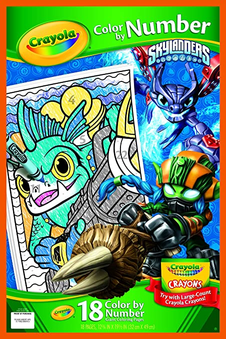 Amazon Com Crayola Skylanders Giant Coloring Pages Toys Games