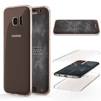 Urcover® Funda Compatible con Samsung Galaxy S7 Edge, Carcasa Protectora 360 Grados Silicona Gel en Transparente Full Body Protección Completa ...