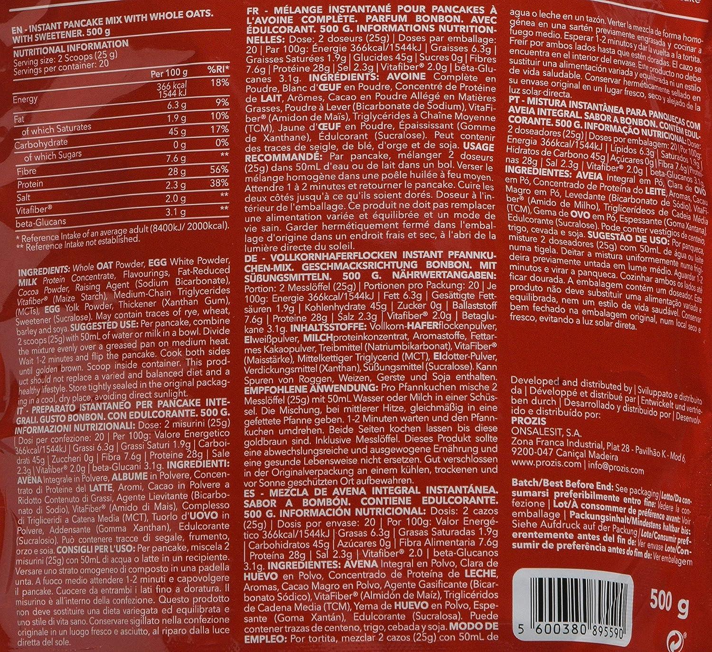 Prozis Pancake, Sabor Chocolate Brownie - 500 gr: Amazon.es: Salud y cuidado personal