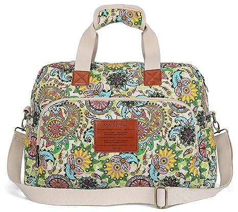 Malirona Canvas Overnight Bag Women Weekender Bag Carry On Travel Duffel Bag  Floral  Amazon.ca  Luggage   Bags afb1ebb779797